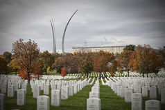 Graves at Arlington National Cemetery Royalty Free Stock Photos
