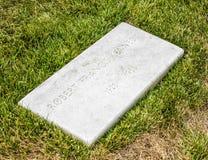 Graves at Arlington national Cemetery in Washington stock photo