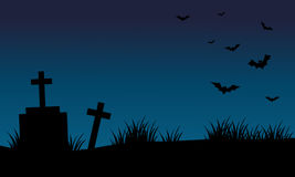 Graves and bat halloween backgrounds Royalty Free Stock Images