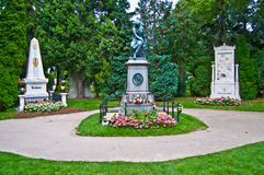 Graves of Beethoven, Mozart and Schubert Stock Photography