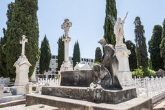 Graves in the cemetery, graveyard Stock Photography