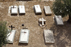 Mount of Olives Christian Cemetary Royalty Free Stock Photography