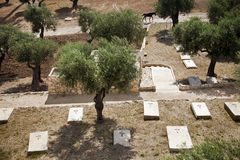 Mount of Olives Christian Cemetary Stock Images