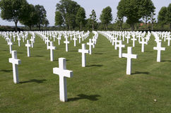 Graves of fallen U.S. soldiers. Royalty Free Stock Photo