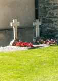 Graves with flowers Royalty Free Stock Photography