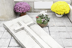Graves with flowers Stock Photography