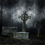 Graves in the forest Royalty Free Stock Photography