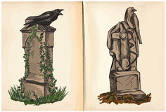 Graves - hand drawings, vector Stock Image