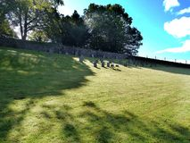 Graves on a hillside Royalty Free Stock Photography