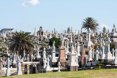 Free Graves In Waverley Cemetery Royalty Free Stock Images - 154996019