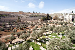 Graves - Jerusalem Stock Photography