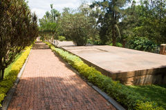 Graves of Kigali Genocide Memorial Centre Royalty Free Stock Images
