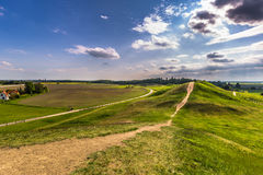Graves of Kings, Uppsala, Sweden. The Graves of Kings in Gamla Uppsala, Sweden Royalty Free Stock Photography