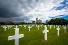 Graves at the Manila American Cemetery & Memorial, in Taguig, Me Stock Photos
