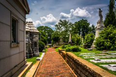 Graves and mausoleums at Oakland Cemetary in Atlanta, Georgia. Stock Photos
