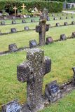 The graves of members of St. Joseph Congregation on the cemetery in Ursberg, Germany.  Royalty Free Stock Photo