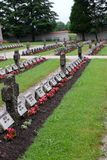 The graves of members of St. Joseph Congregation on the cemetery in Ursberg, Germany.  Stock Images