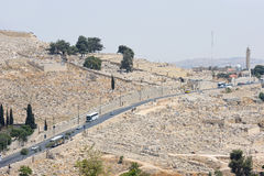 Graves on the Mount of Olives Stock Photo