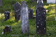 Graves in Muslim cemetery  Royalty Free Stock Photo