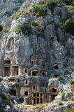 Graves Myra. Unusual graves in Myra, Turkey Royalty Free Stock Images