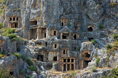 Graves Myra Turkey. Unusual graves in Myra, Turkey Royalty Free Stock Photos