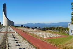Graves at Natzwiller-Struthof concentration camp, France Royalty Free Stock Image