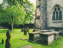 Graves near the church Stock Image