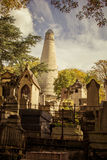 Graves at Pere Lachaise cemetry Paris Stock Photos