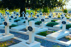 Graves of the Polish warriors on Lychakiv Cemetery Stock Photography