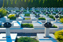 Graves of the Polish warriors on Lychakiv Cemetery Stock Images