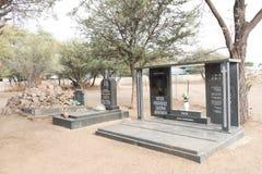 Graves at sacred burial site of the Ovambanderu in Okahandja Stock Images