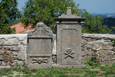 Graves at Saint Vitus Parish Church in Gracisce Stock Photo