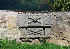 Graves at Saint Vitus Parish Church in Gracisce Royalty Free Stock Photo
