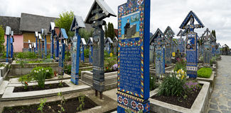Graves in Sapanta town  in Romania Stock Images