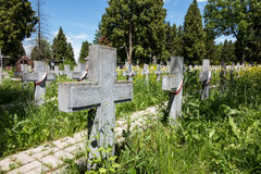 The graves of soldiers killed in the Polish-Soviet war from 191 Stock Photography