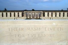 Graves at Tynecote cemetery, Belgium Royalty Free Stock Photo