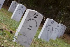 Graves of Unknown Confederate Soldiers Royalty Free Stock Photos