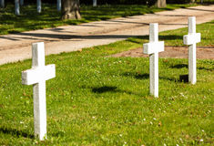 Graves of unknown Soldiers who died for France during World War II. Close up on graves of unknown Soldiers who died for France during World War II Stock Images