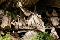 Graves in a village in Tana Toraja, Indonesia Royalty Free Stock Photos