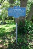 Gravesend commemorativo firma dentro Brooklyn, NY Fotografia Stock Libera da Diritti