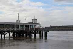 Gravesend pier. A working pier in kent Royalty Free Stock Image