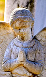 Gravesite - Angel - closeup made of stone Royalty Free Stock Images
