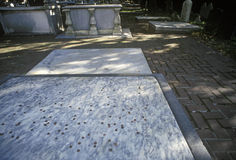 Gravesite de Benjamin Franklin, Philadelphfia, PA Foto de Stock Royalty Free