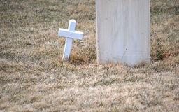 Gravesite del cimitero Immagini Stock