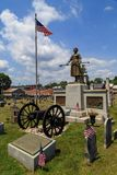 The gravesite and monument of Molly Pitcher. Carlisle, PA, USA – June 26, 2016: The Mary Ludwig Hays - better known as Molly Pitcher - gravesite, located in Royalty Free Stock Photo