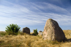 Gravesite stones Royalty Free Stock Image