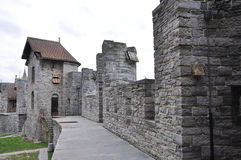 Gravesteen城堡在跟特,比利时 免版税库存照片