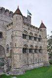 Gravesteen castle in Ghent, Belgium Stock Images