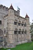 Gravesteen Schloss in Gent, Belgien stockbilder