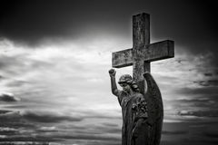 gravestone ангела Стоковая Фотография RF